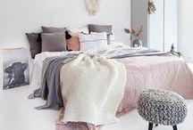 Slaapkamer ❥ Pastel / Zachte kleuren, printjes en lichte materialen!