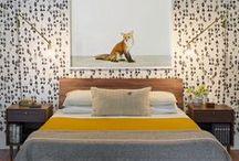 Slaapkamer ❥ Vintage / Oude meubels, retro invloeden en printjes
