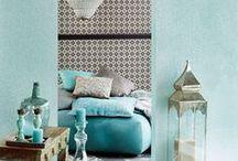 Slaapkamer ❥ Oosters / Mooie patronen, sfeervolle verlichting en zilveren accenten