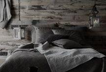 Slaapkamer ❥ Zwart / Zwart, donker en strak