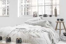 Slaapkamer ❥ Naturel / Natuurlijke tinten, materialen en stoffen