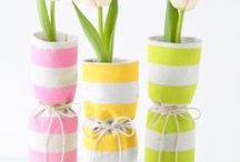 DIY Spring Crafts and Decor Ideas / A collection of ideas to welcome in Spring from seasonal DIY crafts to Springtime home decor and garden ideas.