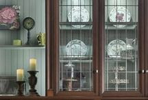 Keep it Glassy / A touch of glass adds class to any room of your home.