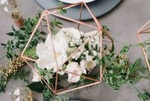 table: modern / modern industrial wedding table inspiration