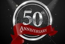 Anniversary using gold and silver ornaments / There are so many design of anniversary card or something like that, than can be used as a gift. link for download http://shutterstock.com/g/seklihermantaputra
