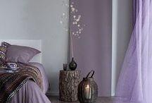 Slaapkamer ❥ Paars / Paarstinten, slaapkamers en mooie kleurencombinaties