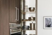 Perfect Pantries / Maximize space and organization for supplies and cooking equipment with Wood-Mode's variety of pantry options.