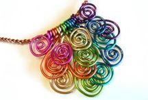 Šperky z drátů - Wire jewelry