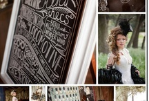 """Steampunk Wedding"" shoot- pinspiration board"
