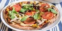 vegan pizza / I have often thought - why not take a package of your favorite vegan cheese over to one of those five dollar pizza,( Little Cesar?)  take out places?  Ask them to make a take out with the vegan cheese you provide.   I am thinking we sometimes want someone else to make it.  Try Sonoma Flatbread's Dairy Free Pizza. 5 stars to them!