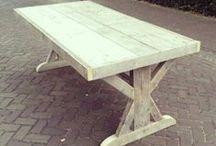 Steigerhouten tafel / Steigerhout