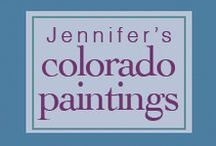 Colorado Paintings for You! / Lively Oil Landscape Paintings Inspired by the Land You Love. Fun Gift Idea to Enhance anyone's home or office! www.jennressmann.weebly.com