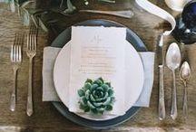 Table Setting Inspiration / set the tone