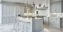 Luxury Kitchens - Tom Howley Grey and Black Kitchens / Be inspired - style and luxury for the family home | Tom Howley | Grey and Black Modern Shaker Kitchen