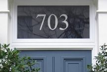 Front Door Ideas and Inspiration / Stylish Front Door Colour Schemes and Hardware