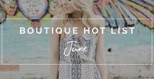 Boutique.Style: June 2017 Hot List / When we say these pieces are hot, we mean it literally and figuratively. June is the kick-off to summer, and we could not be more excited to see a little sunshine and all the summer styles that go with it! Long, beaded earrings and pom poms are definitely having a big moment right now, as are stripes, two-piece sets, and feminine pieces. Pair those with distressed denim shorts, wedges and a flowy duster and you've got yourself a summer outfit that all your friends will be envious of!