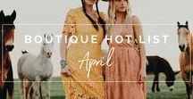 Boutique.Style: April 2017 Hot List / Here's what you can find in April's list: Pieces we love for women, tweens, children and even a few babies pulled from boutiques of all types worldwide.  Just over 110 pieces we loved from 7,000+ accounts including apparel, shoes & accessories.  Styles to fit any 'personal style preference' – mainstream contemporary, coastal, western, Australian, boho, curvy and more.  BIG trends in embroidery, two piece sets, bibs, stripes, open shoulders, mixed swimwear sets, hats, vintage tee's, and roses.