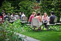 Garden Terrace - Hotel Navarra Brugge Bruges / A haven of peace in the heart of Bruges! Very few hotels have a private garden. It is rather exceptional. Nevertheless after a full day visiting the city, it is really wonderful to be able to just sit and relax.  http://www.hotelnavarra.com/en/info/260/Garden-terrace.html