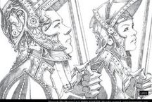 Lamin Martin Pencil Artwork / Some of my pencil illustration work!