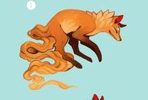 Fox & wolfe, coyote
