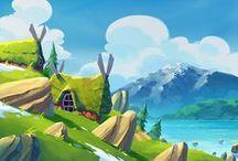 Background, landscape