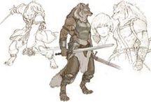 Characters, figures