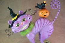 *Halloween-Folk Art / Halloween folk art and crafts.  Buy, or be inspired and make it yourself! / by Cheryl Northedge