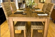 Dining Furniture / Collections of different furniture intended for use in a dining room. It can be made from many materials, including metal, plastic, and wood. Includes dining tables, chairs, benches, wine racks etc.