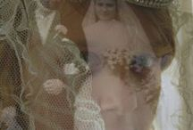 Katie FForde || A Vintage Wedding / Getting my niece to dress up in her grandmother's vintage weddingdress. And combining her pictures with those of her grandparent's wedding.