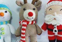 Christmas crochet decs etc