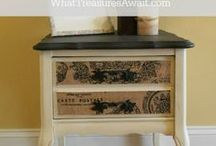 Painted Furniture / painted furniture, furniture makeovers, chalky paint, spray paint,