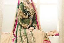 Bridal Lahenga Style Suit / by Deshi Besh