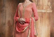 Haya Palazzo Style Salwar Suit / by Deshi Besh