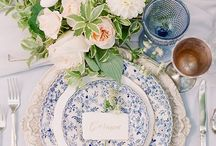 Hampton wedding. / A classic wedding style, Hamptons wedding can really vary with different elements of textures. To create a true Hamptons style wedding include blue hydrangeas, ginger jars, white chairs, rattan textures and loads of candles.