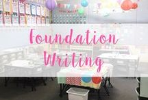 Writing - Foundation (Kindergarten) / Engaging activities, center ideas, prompts and printables!