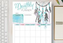 Printable Calendar / Check out these printable calendars. These yearly and monthly planners are ideal for organizing your every day tasks, lists, chores, shopping, appointments, emails, and everything else you have going on in your busy life. They are even great for kids, both at home and at school. These files are all yours forever so you can print them as many times as you like!   DIY and crafts. Visit our store at http://www.etsy.com/shop/stickwithsam for more great printable calendars.