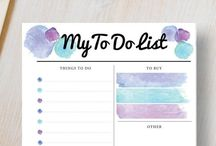 Planner Organization Printables / Take a look at these fantastic organizational printables to get your home, school, college and work-life in order. They come in a range of fun designs and include day planners, weekly and monthly planners and calendars. There are different sizes to choose from including a5 planner printables to fit in your filofax and you can DIY print them from home as many times as you like.   DIY and crafts. Visit our store at http://www.etsy.com/shop/stickwithsam for more planner organization printables.