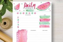 Daily Planner / These printable daily planners will get your day organized and off to a good start. They are ideal for organizing your every day tasks, lists, chores, shopping, fitness, appointments, work, and everything else you have going on in your busy life. You can jot down ideas, keep track of the kids, add them to your organizer and best of all, they are DIY printable as many times as you like!   DIY and crafts. Visit our store at http://www.etsy.com/shop/stickwithsam for more great daily planners.