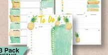 Packs & Bundles - Planner Printables / These printable planner packs are perfect for filling your Filofax or Planner. With packs of 2,3 or 5 planner printables, you can't NOT be organized! Each pack contains various planner printables in a range of sizes to suit most planners or Filofax, including A4, A5, Half Letter, Letter and Personal Size. For more planner printables, visit our shop http://www.etsy.com/shop/stickwithsam.