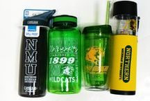 NMU Gifts & Souvenirs / NMU gifts and souvenirs at the Bookstore. Water bottles, stickers, lanyards, banners, and more!