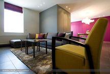 Modern huis met kleur