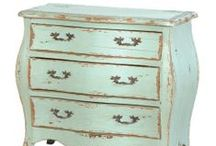 Etienne Turquoise Dining Furniture / A highly distressed collection, certainly not for the faint hearted. The Etienne furniture is finished in an off turquoise made by a mixture of Blue and Green.  This range is the definition of Shabby Chic!