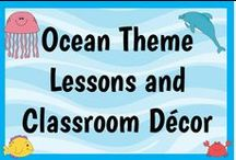 Ocean Theme / This board is dedicated to lessons, activities, and classroom decor ideas for an ocean or beach theme classroom! You can use these ideas for your Kindergarten, 1st, 2nd, 3rd, 4th, 5th, or 6th grade classroom or homeschool! Stick around and be inspired!!