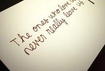 Tattoos/quotes.