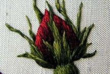 Embroidery flower fruits leaves plants