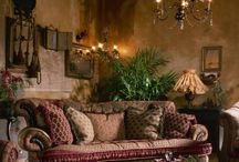 Victorian living room and bohemian decor