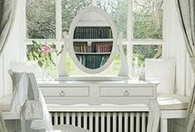 Giselle / Gorgeous off-white painted furniture finished fabulously with brush stroke paint.