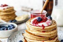Vegan Pancakes / vegan pancakes, vegane Pfannkuchen, veganes Frühstück, vegan Rezepte, süßes Frühstück, veganer Eierkuche,