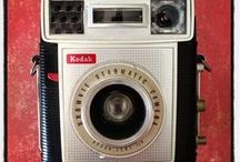 #weloveCAMERAS / We love cameras! So we decided to start a collection. A collection of different cameras, old cameras, new cameras, strange cameras, weird cameras, unusual cameras, antique cameras, war cameras, Nikon, Canon, Leica, red cameras, big cameras, small cameras. All kinds of cameras!