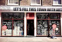 café • shop-window • bar / by Juli Puli